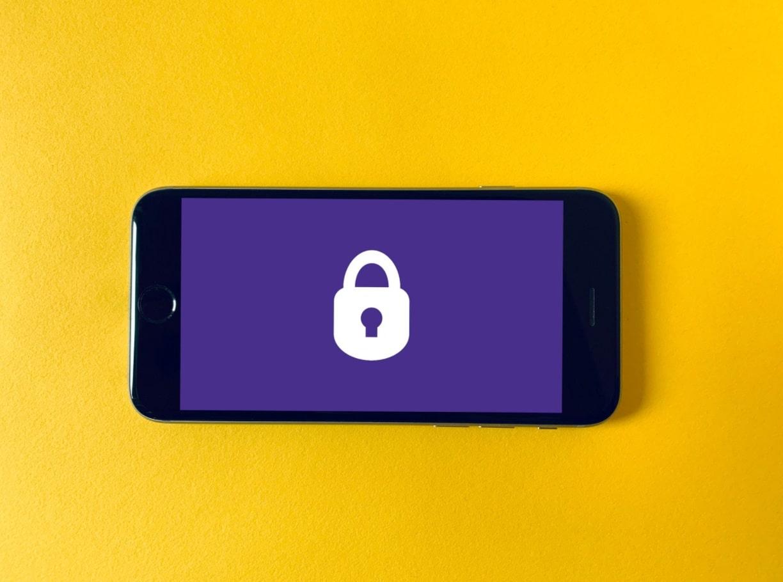 Dessin cadenas sur smartphone