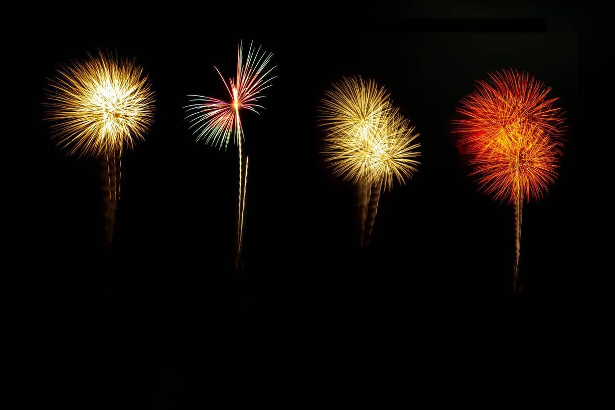 différents feux d'artifice