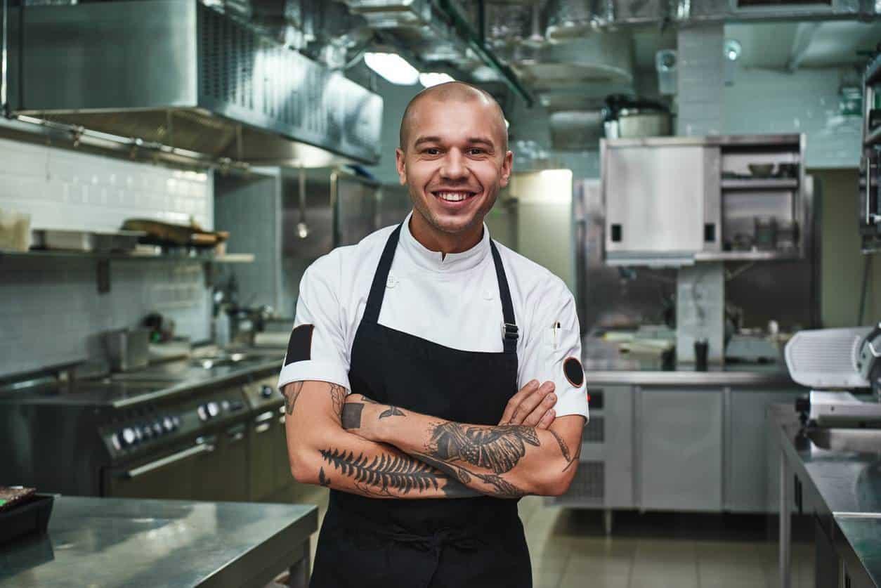 four professionnel cuisine restaurant